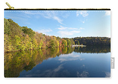 Carry-all Pouch featuring the photograph Reflections Of Autumn by Donald C Morgan