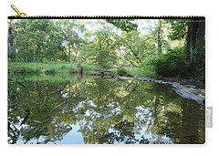 Carry-all Pouch featuring the photograph Reflections Of Beetree Run by Donald C Morgan