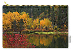 Reflections Of Fall Beauty 2 Carry-all Pouch by Lynn Hopwood