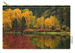 Reflections Of Fall Beauty Carry-all Pouch by Lynn Hopwood