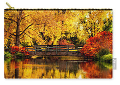 Reflections Of Fall Carry-all Pouch by Kristal Kraft