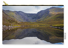 Carry-all Pouch featuring the photograph Reflections Of The Macgillycuddy's Reeks In Lough Eagher by Semmick Photo