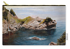 Carry-all Pouch featuring the painting Reflections Of The Past by Hazel Holland