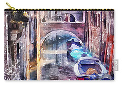 Reflections Of Venice Carry-all Pouch by Shirley Stalter