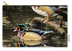 Reflections Of You And Me Wildlife Art By Kaylyn Franks Carry-all Pouch