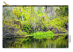Carry-all Pouch featuring the photograph Reflections On A Beautiful Day by Madeline Ellis