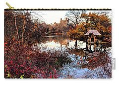 Carry-all Pouch featuring the photograph Reflections On A Winter Day - Central Park by Madeline Ellis