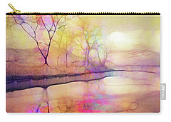 Carry-all Pouch featuring the digital art Reflections On Ice by Tara Turner