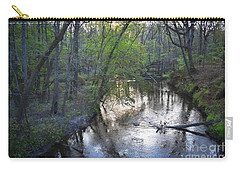 Carry-all Pouch featuring the photograph Reflections On The Congaree Creek by Skip Willits