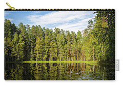 Reflections On The Pond Of Itko Carry-all Pouch