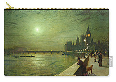 Reflections On The Thames Carry-all Pouch by John Atkinson Grimshaw