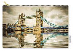 Reflections On Tower Bridge Carry-all Pouch