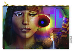 Carry-all Pouch featuring the digital art Reflections by Shadowlea Is