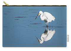 Reflections White Egret Carry-all Pouch