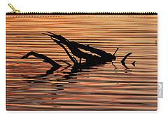 Carry-all Pouch featuring the photograph Reflective Abstract by Louise Lindsay