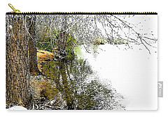 Reflective Trees Carry-all Pouch by Deborah Nakano
