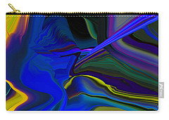 Refracted Ray Of Blue Carry-all Pouch