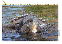 Carry-all Pouch featuring the photograph Refreshing Bath by Doris Potter