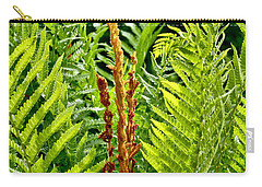 Refreshing Green Fern Wall Art Carry-all Pouch