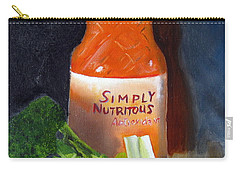 Carry-all Pouch featuring the painting Refrigerator Items by LaVonne Hand