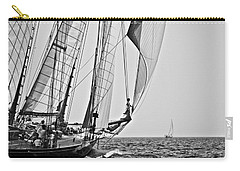 Regatta Heroes In A Calm Mediterranean Sea In Black And White Carry-all Pouch