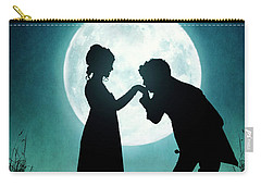 Regency Couple Silhouetted By The Full Moon Carry-all Pouch by Lee Avison