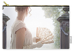 Regency Woman Looking Through A Gateway Carry-all Pouch by Lee Avison