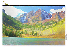 Carry-all Pouch featuring the photograph The Maroon Bells Reimagined 1 by Eric Glaser