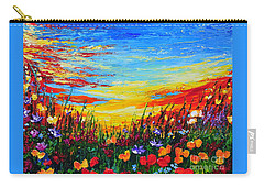 Carry-all Pouch featuring the painting Relax by Teresa Wegrzyn