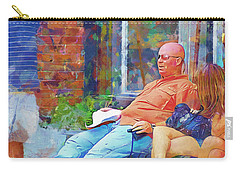 Relaxin Cowboy Carry-all Pouch by Ricky Dean