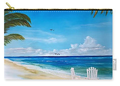 Relaxing At The Beach Carry-all Pouch