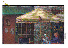 Relaxing At The Cafe Carry-all Pouch by Susan Savad