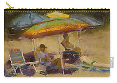 Relaxing At The Lake Carry-all Pouch by David Patterson