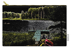 Carry-all Pouch featuring the photograph Relaxing By Moonlight by David Patterson