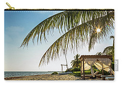 Relaxing Cabana On Beach In Mexico Carry-all Pouch