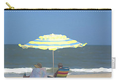 Relaxing On The Chesapeake Bay Va Beach Carry-all Pouch by Suzanne Powers