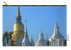 Carry-all Pouch featuring the photograph Wat Suan Dok Reliquaries Of Northern Thai Royalty Dthcm0947  by Gerry Gantt