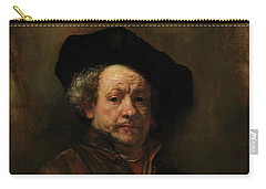 Carry-all Pouch featuring the painting Rembrandt Self Portrait by Rembrandt van Rijn