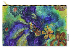 Remember The Flowers Carry-all Pouch by Donna Blackhall