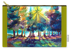Carry-all Pouch featuring the painting Remember The Son by Kathy Braud