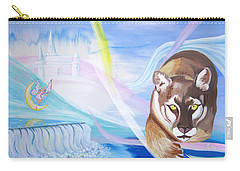 Carry-all Pouch featuring the painting Remembering Childhood Dreams by Phyllis Kaltenbach