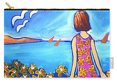 Carry-all Pouch featuring the painting Remembering Joy by Winsome Gunning
