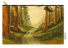Remembering Redwoods Carry-all Pouch by Marilyn Jacobson