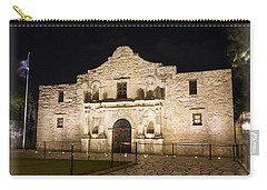 Remembering The Alamo Carry-all Pouch by Stephen Stookey