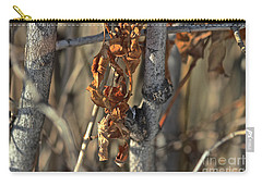 Carry-all Pouch featuring the photograph Remnants Of Fall by Ann E Robson
