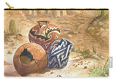 Carry-all Pouch featuring the painting Remnants Of The Ancient Ones by Marilyn Smith