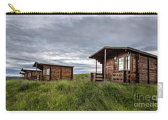 Carry-all Pouch featuring the photograph Remote Cabins Myvatn Iceland by Edward Fielding