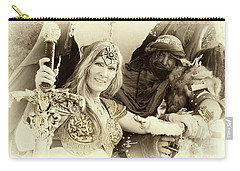 Carry-all Pouch featuring the photograph Renaissance Festival Barbarians by Bob Christopher