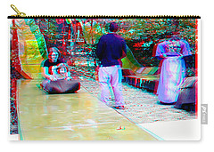 Carry-all Pouch featuring the photograph Renaissance Slide - Red-cyan 3d Glasses Required by Brian Wallace