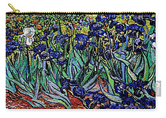 Carry-all Pouch featuring the digital art replica of Van Gogh irises by Pemaro